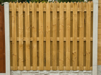 Pointed Top Hit and Miss Fence Panel